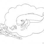 Jonah And The Whale Coloring Pages Lineart