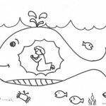 Jonah And The Whale Coloring Pages Praying