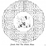 Jonah And The Whale Coloring Pages Round Maze