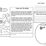 Jonah And The Whale Coloring Pages Story and Activity