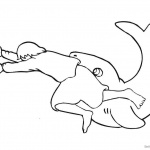 Jonah And The Whale Coloring Pages The Big Fish and Jonah