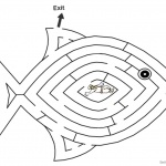 Jonah And The Whale Coloring Pages Whale Fish Maze