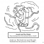 Jonah And The Whale Coloring Pages Whale Stop Running from God and Just Listen