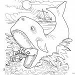 Jonah And The Whale Coloring Pages Whale Swallowed Jonah