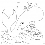 Jonah Swallowed by The Whale Coloring Pages Clipart