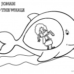 Jonah and The Whale Coloring Pages Jonah in Whale's Belly