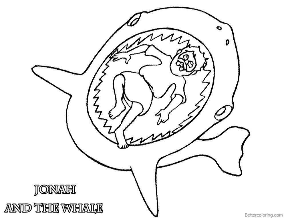 Jonah Swallowed by The Whale Coloring Pages Jonah printable for free