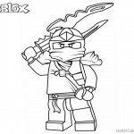 Lego Ninjago Jay Coloring Pages of Roblox