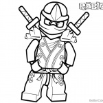 Lego Ninjago from Roblox Coloring Pages