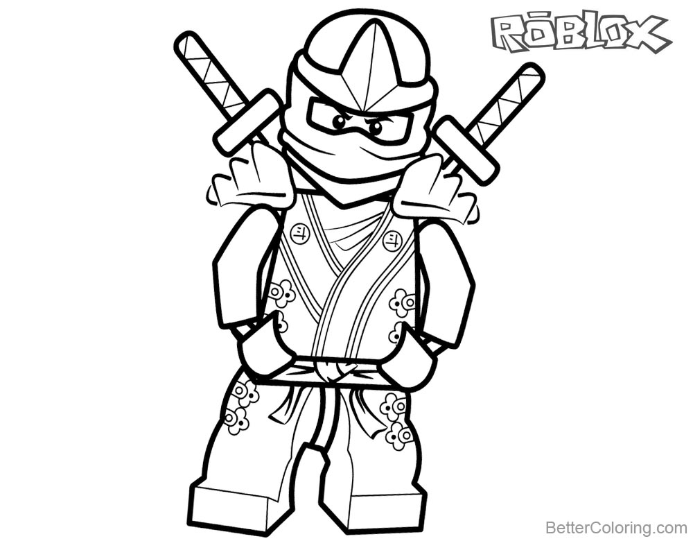 Lego Ninjago from Roblox Coloring Pages - Free Printable ...