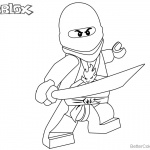 Lego Ninjago of Roblox Coloring Pages