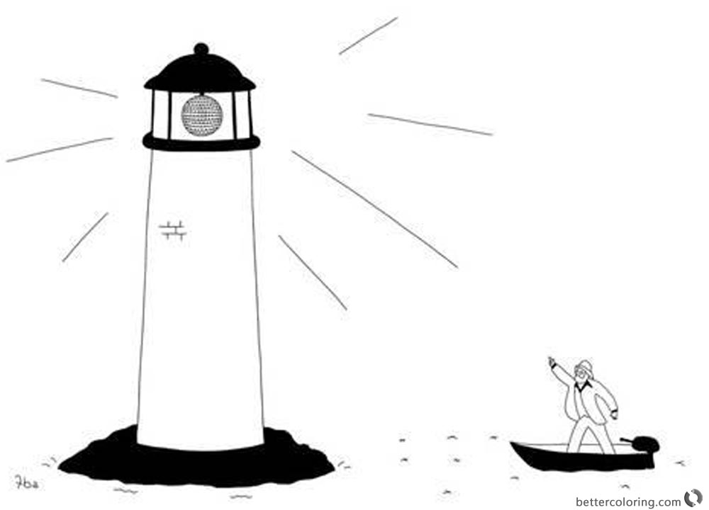 Lighthouse Coloring Pages Disco Lighthouse printable for free