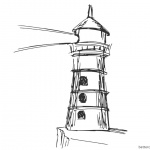 Lighthouse Coloring Pages Hand Drawn