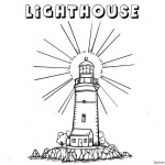 Lighthouse Coloring Pages Light On