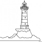 Lighthouse Coloring Pages Line Art