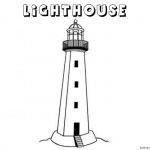 Lighthouse Coloring Pages Lineart Black and White