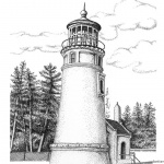 Lighthouse Coloring Pages Realistic Drawing