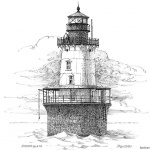 Lighthouse Coloring Pages Realistic Hand Drawing