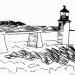 Lighthouse Coloring Pages Sketch