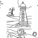 Lighthouse Coloring Pages The Boat is Back