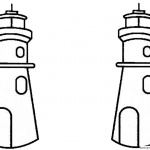 Lighthouse Coloring Pages Two Lighthouses