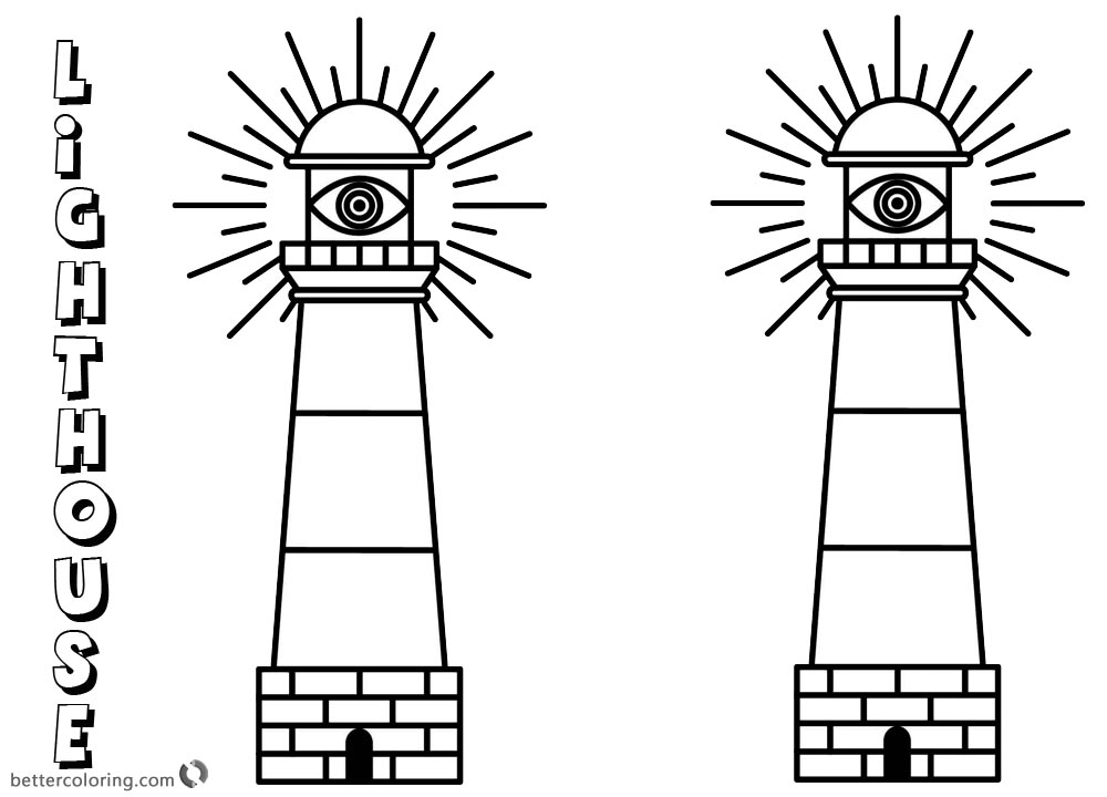 Lighthouse Coloring Pages Working for the People On the Sea printable for free