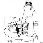 Lighthouse Coloring Pages with Captain