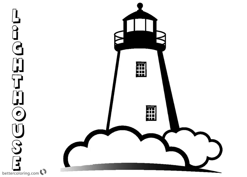 Lighthouse Coloring Pages Free Gallery