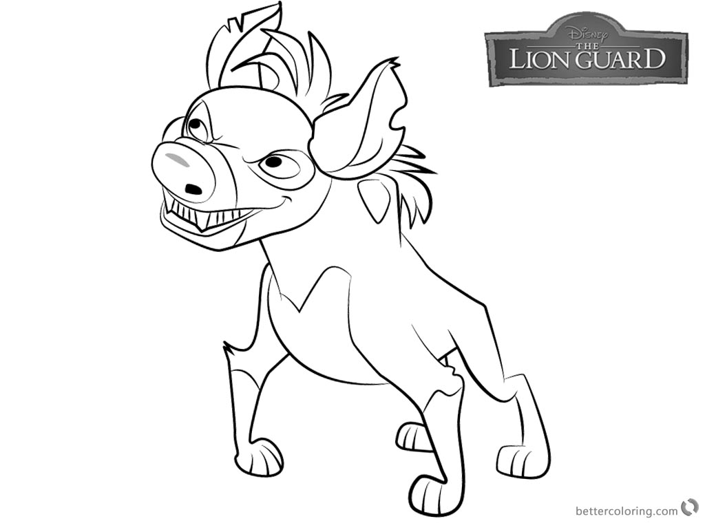 Lion Guard coloring pages Cheezi free and printable