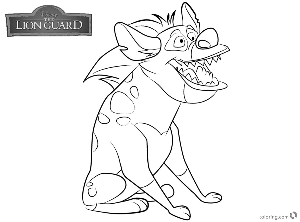 Lion Guard coloring pages Chungu free and printable