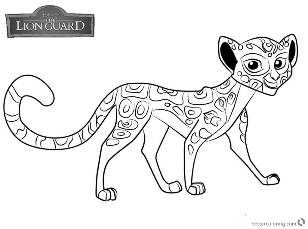 Lion Guard coloring pages Fuli free and printable