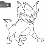 Lion Guard Coloring Pages Janja