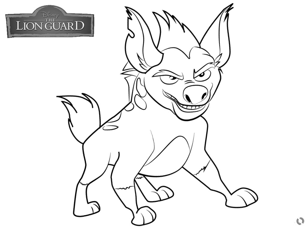 Lion Guard coloring pages Janja free and printable