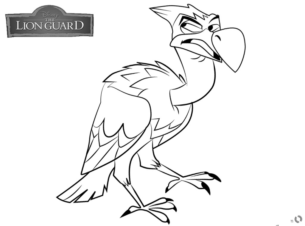 Lion Guard coloring pages Mzingo free and printable