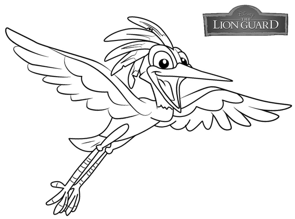 Lion Guard coloring pages Ono free and printable
