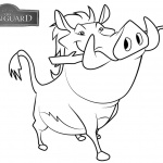 Lion Guard Coloring Pages Pumbaa