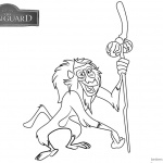 Lion Guard Coloring Pages Rafiki