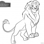 Lion Guard Coloring Pages Simba