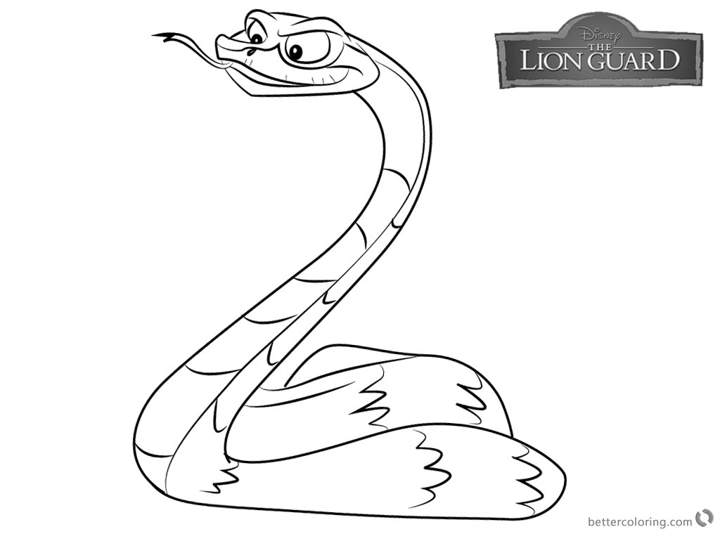 Lion Guard Coloring Pages Ushari