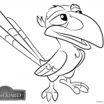 Lion Guard Coloring Pages Zazu