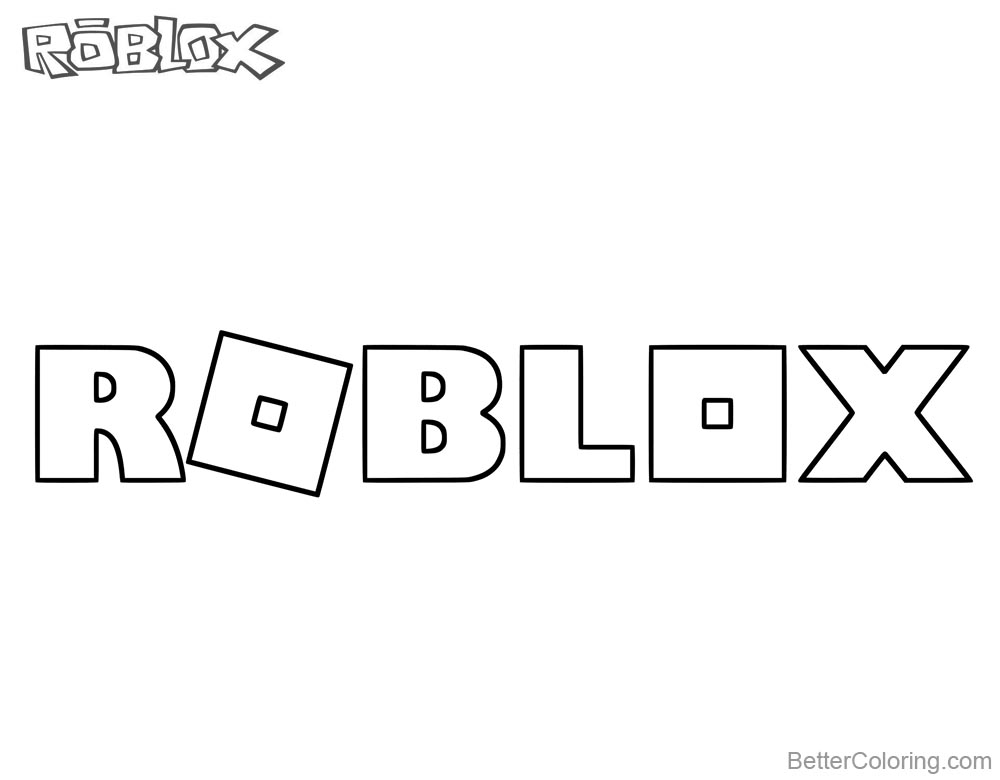 Logo of Roblox Coloring Pages printable for free