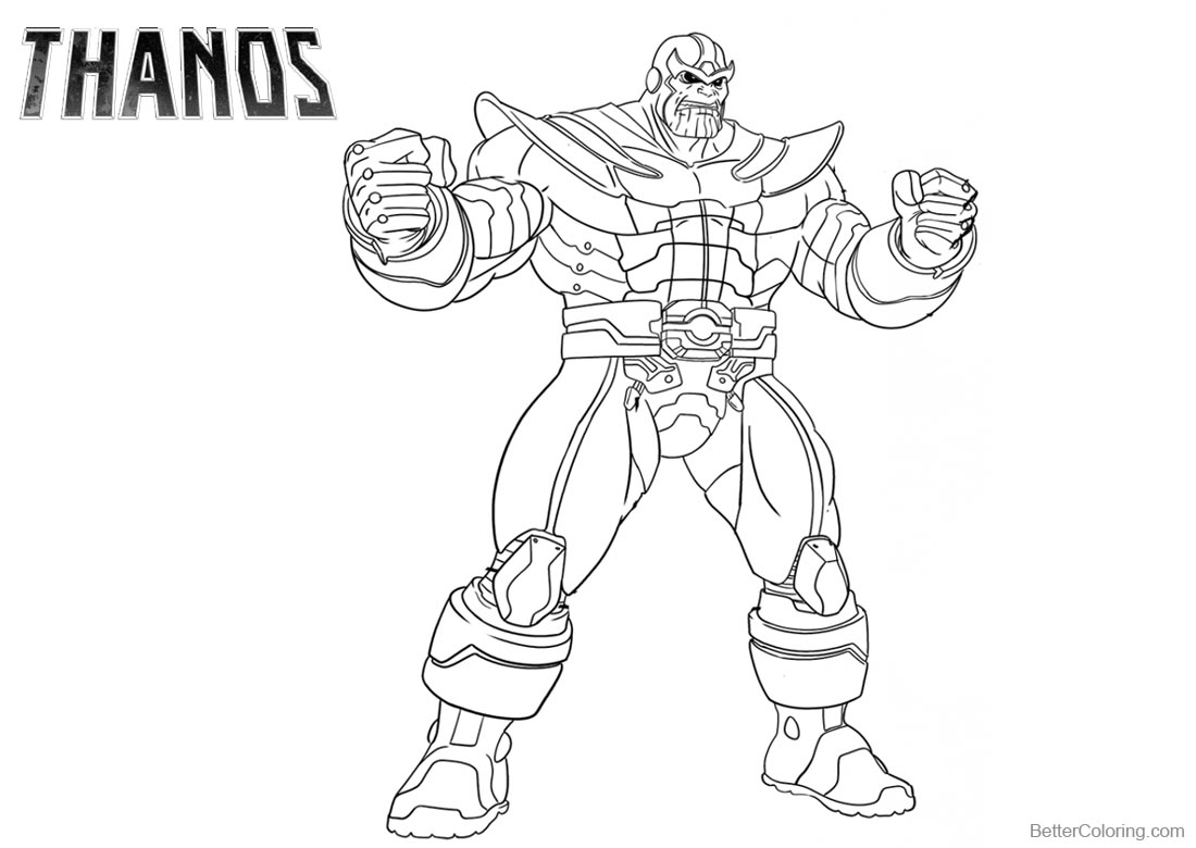 Marvel Thanos Coloring Pages Free Printable Coloring Pages