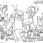 Minecraft Coloring Pages Roblox Coloring Pages