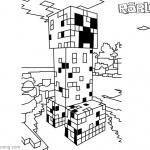 Minecraft Coloring Pages Roblox Creeper