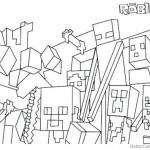 Minecraft of Roblox Coloring Pages Characters and Logo
