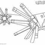 Minecraft of Roblox Coloring Pages Lineart