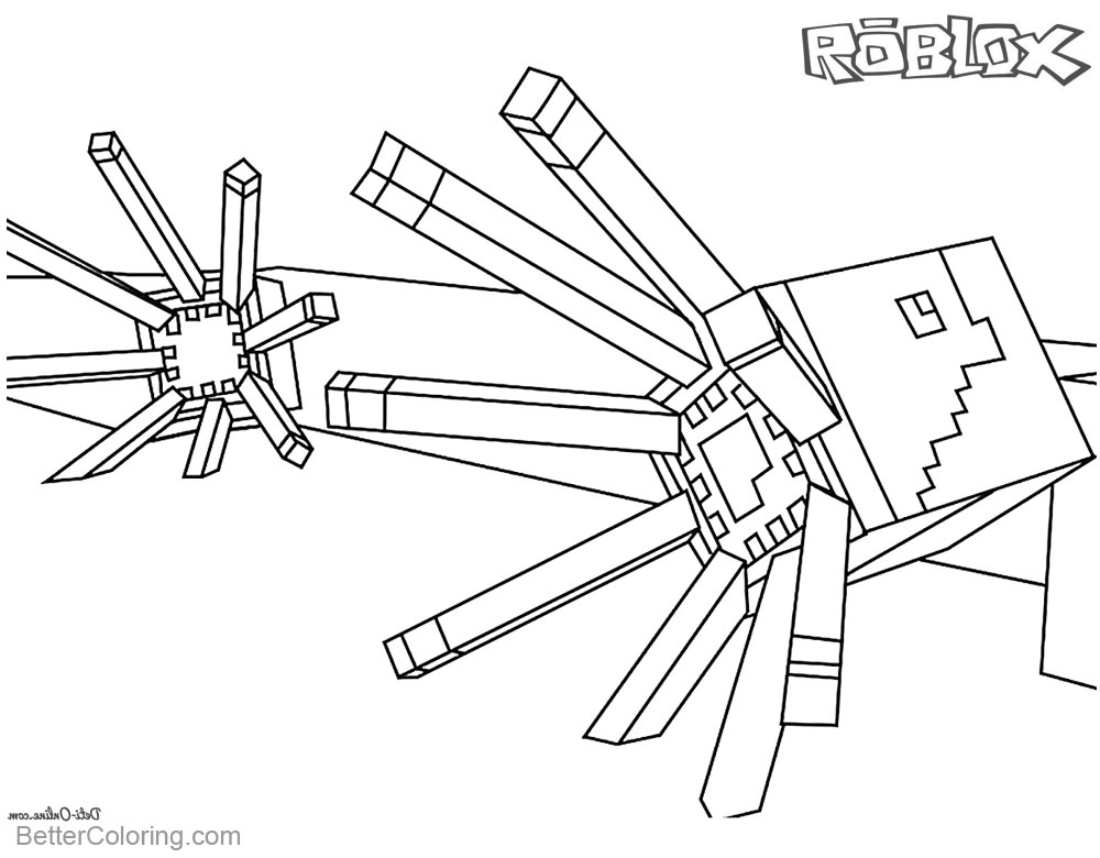 Minecraft of Roblox Coloring Pages Lineart printable for free