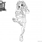 Monster High Coloring Pages Lorna Mcnessie
