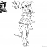 Monster High Coloring Pages Odile lineart
