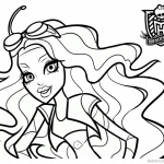 Monster High Coloring Pages Robecca Steam
